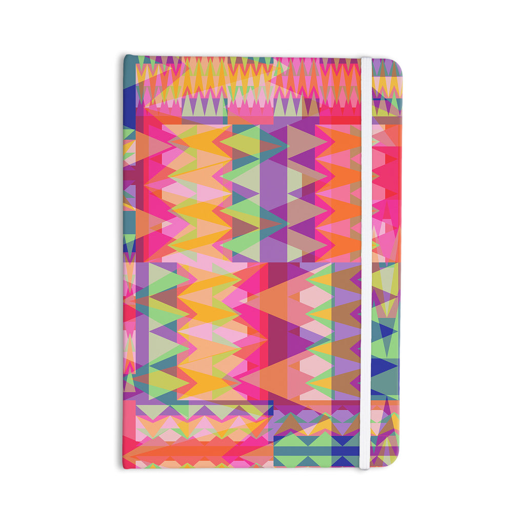 "Miranda Mol ""Triangle Fun"" Pink Multicolor Everything Notebook - KESS InHouse  - 1"
