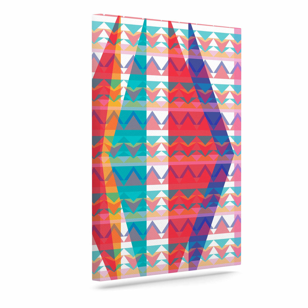 "Miranda Mol ""Triangle Illusion"" Multicolor Geometric Canvas Art - KESS InHouse  - 1"