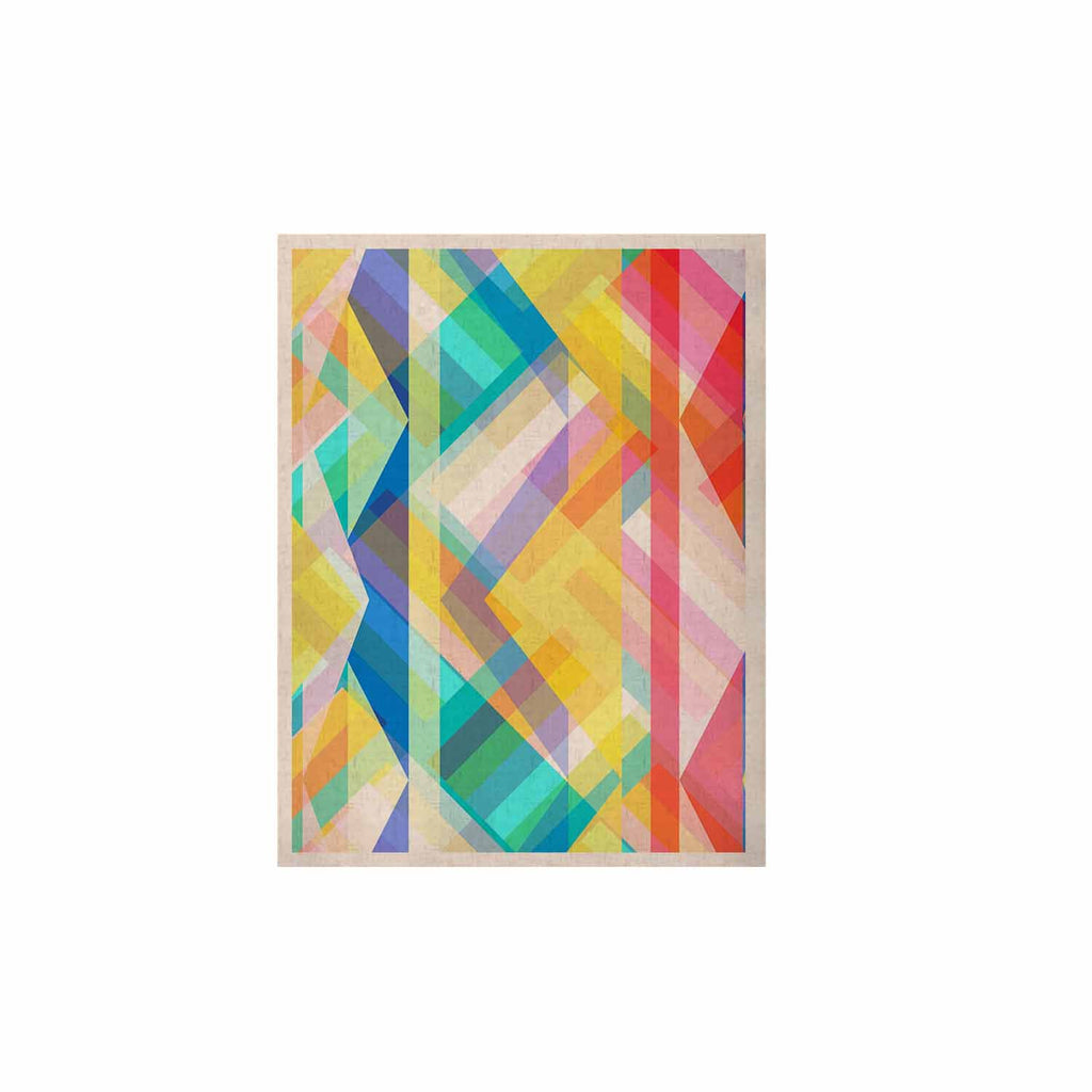"Miranda Mol ""Triangle Rhythm"" Pastel Geometric KESS Naturals Canvas (Frame not Included) - KESS InHouse  - 1"