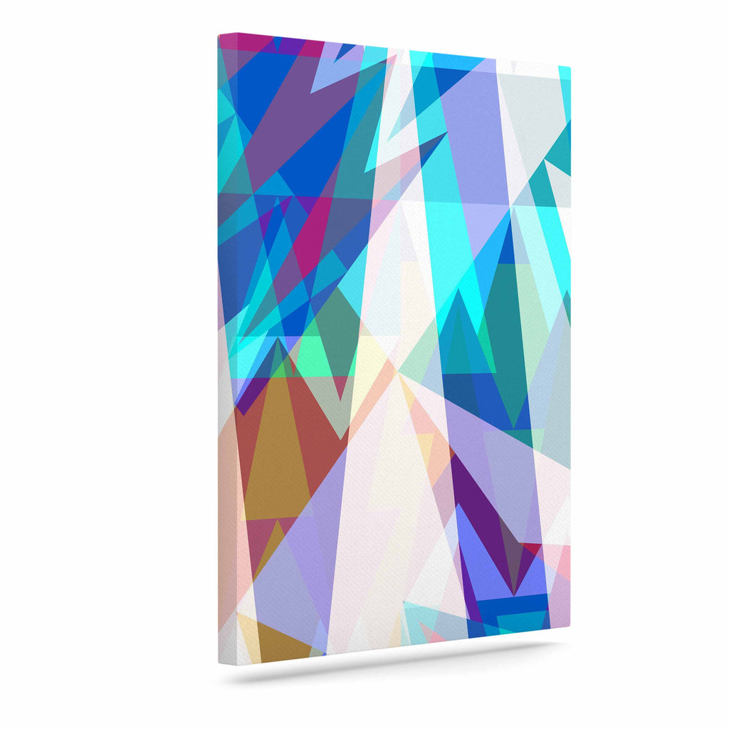 "Miranda Mol ""Triangle Party"" Multicolor Canvas Art - KESS InHouse  - 1"