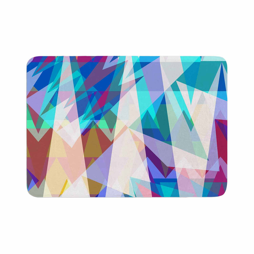 "Miranda Mol ""Triangle Party"" Multicolor Memory Foam Bath Mat - KESS InHouse"