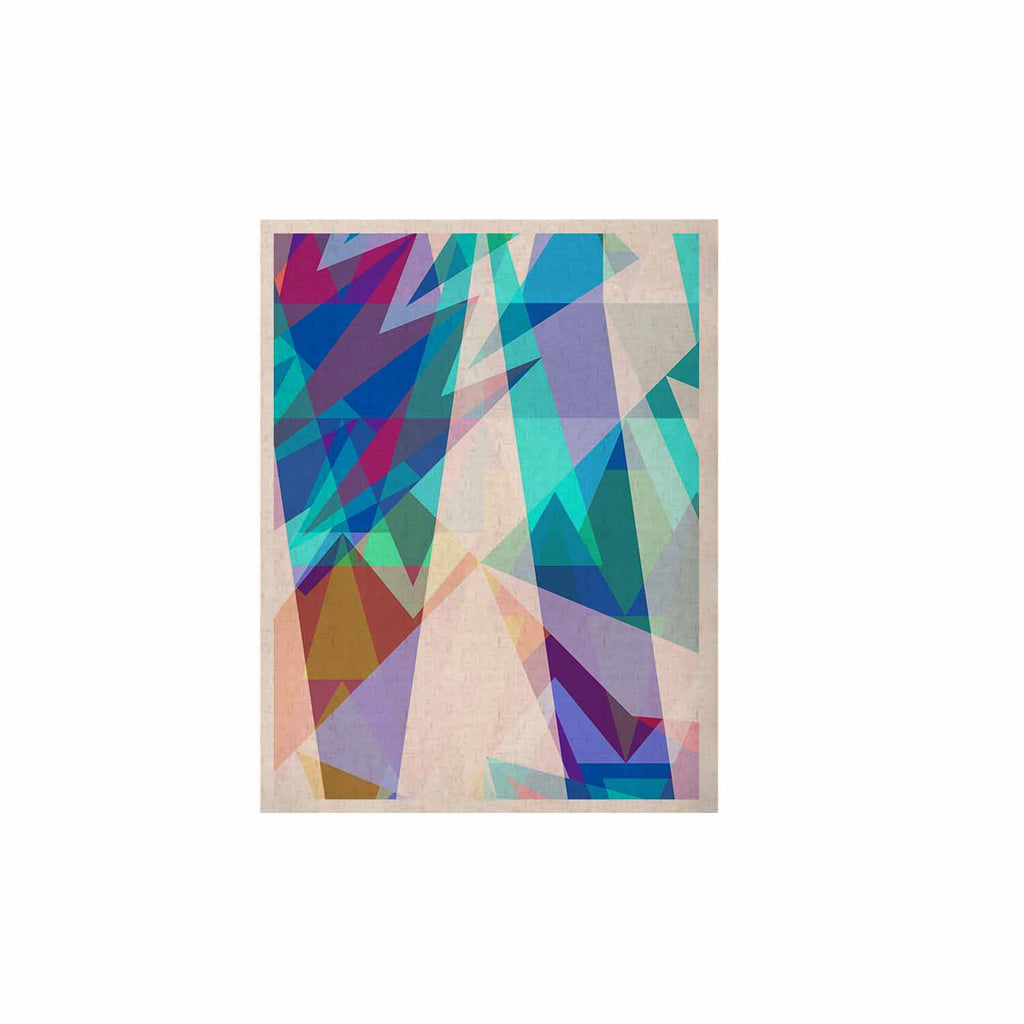 "Miranda Mol ""Triangle Party"" Multicolor KESS Naturals Canvas (Frame not Included) - KESS InHouse  - 1"