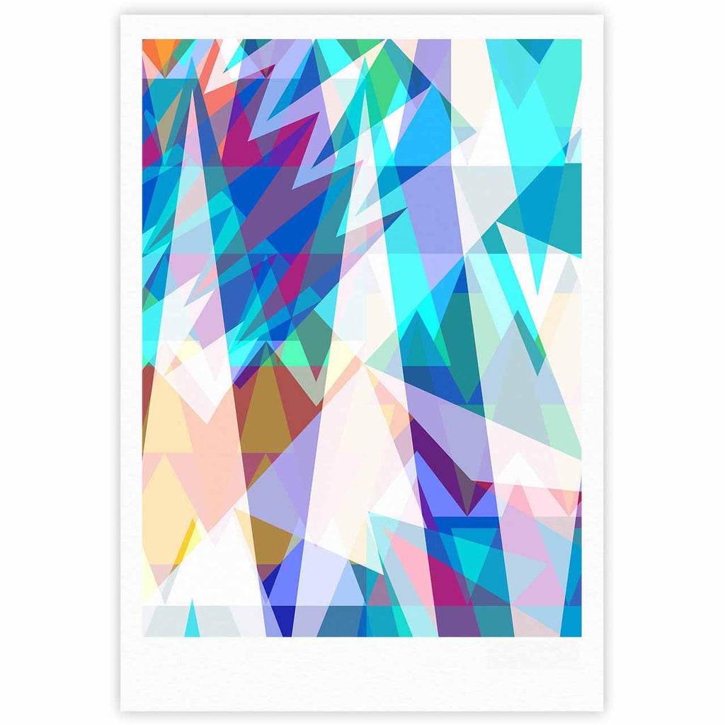 "Miranda Mol ""Triangle Party"" Multicolor Fine Art Gallery Print - KESS InHouse"