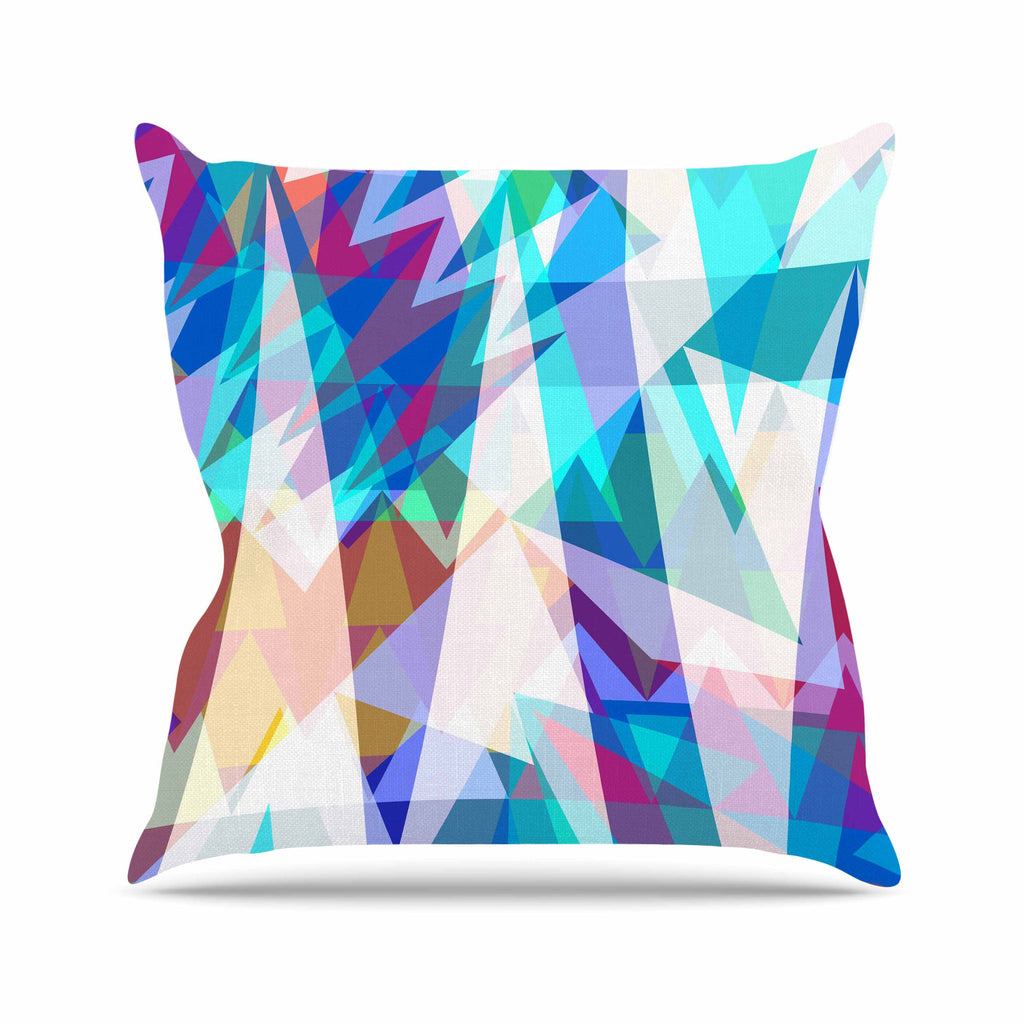 "Miranda Mol ""Triangle Party"" Multicolor Throw Pillow - KESS InHouse  - 1"