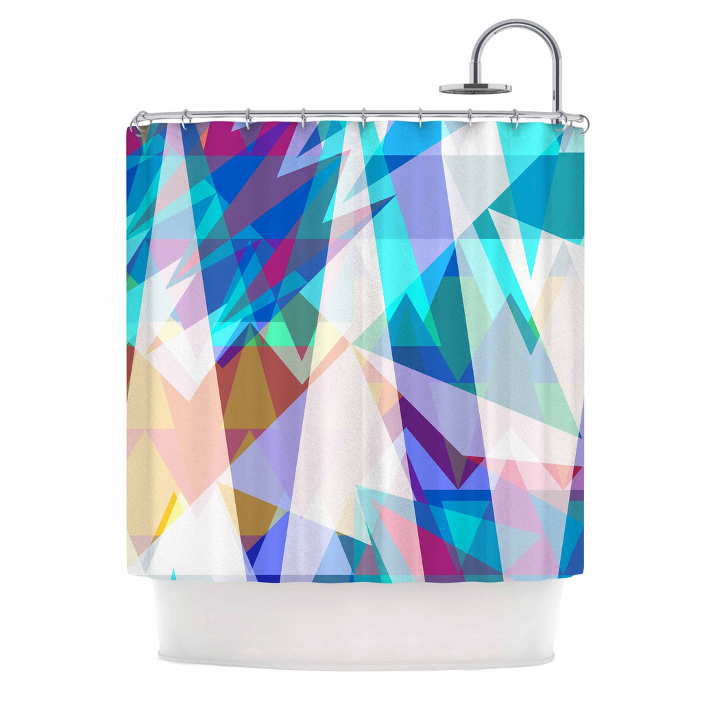 "Miranda Mol ""Triangle Party"" Multicolor Shower Curtain - KESS InHouse"