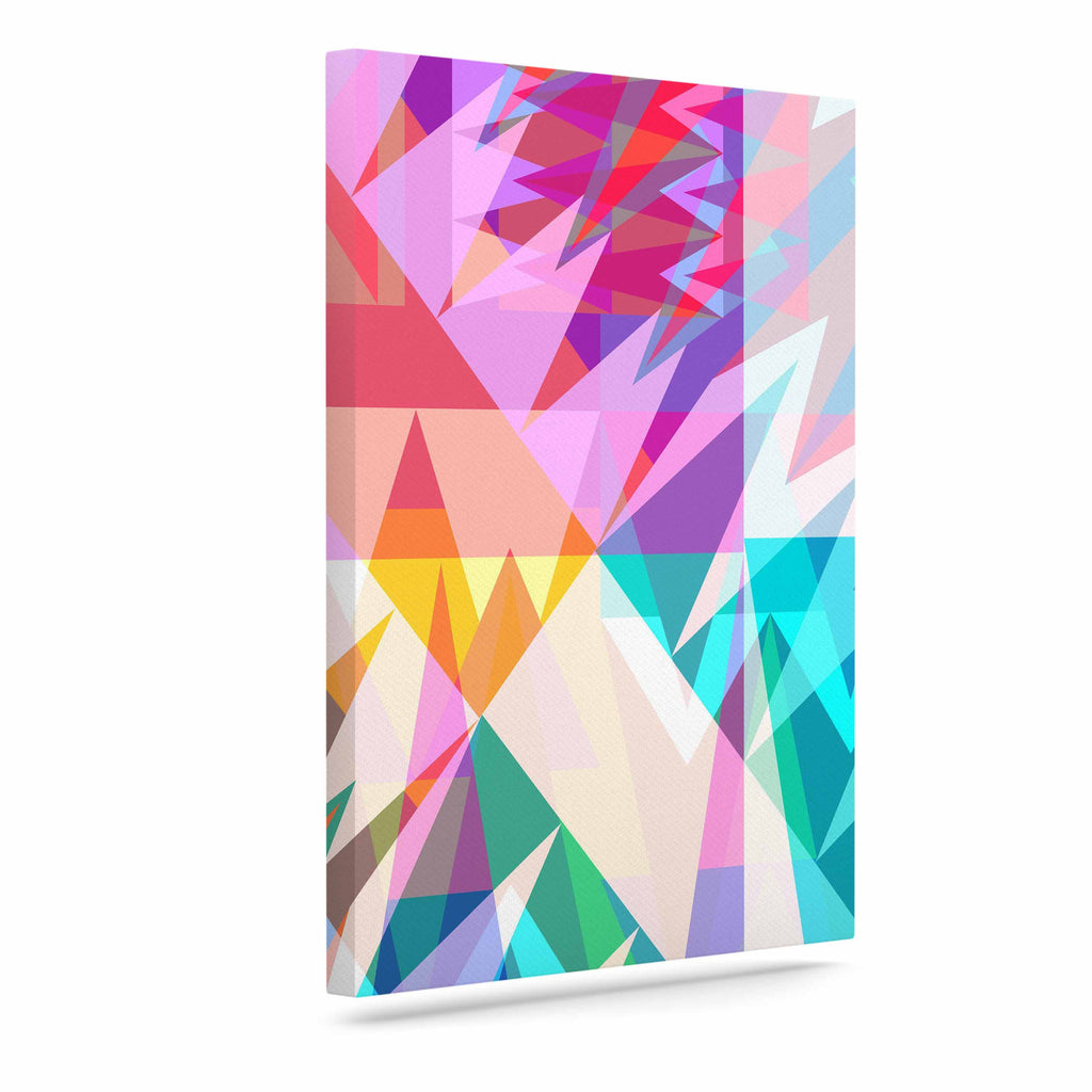 "Miranda Mol ""Triangle Feast"" Abstract Geometric Canvas Art - KESS InHouse  - 1"