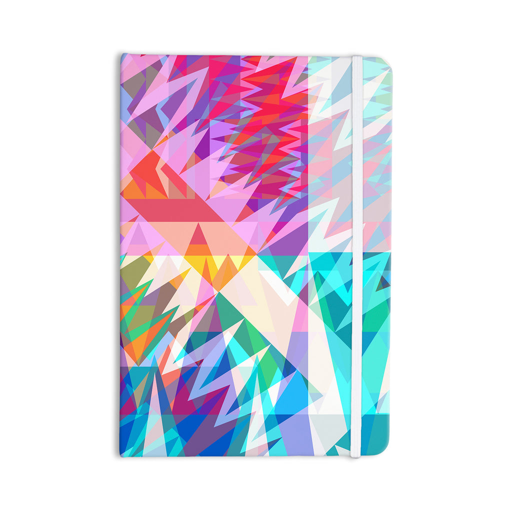 "Miranda Mol ""Triangle Feast"" Abstract Geometric Everything Notebook - KESS InHouse  - 1"