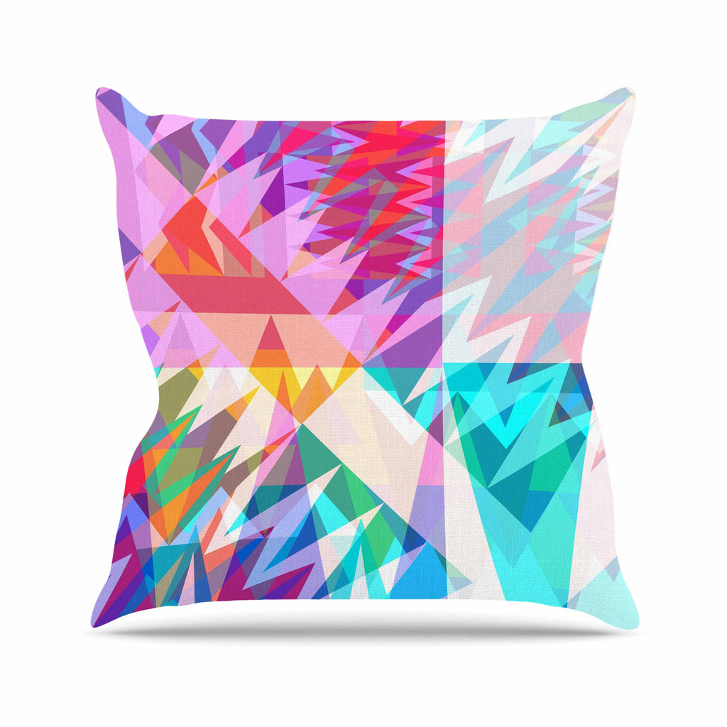 "Miranda Mol ""Triangle Feast"" Abstract Geometric Outdoor Throw Pillow - KESS InHouse  - 1"