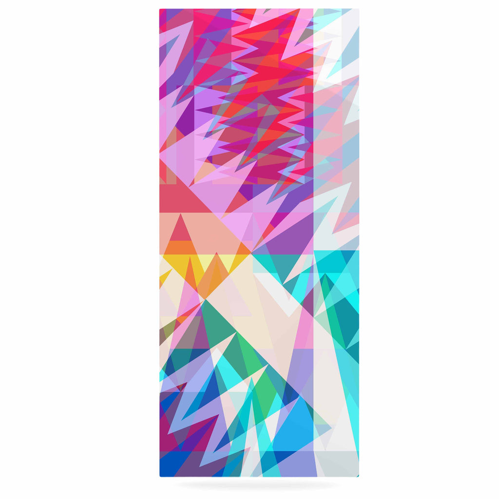 "Miranda Mol ""Triangle Feast"" Abstract Geometric Luxe Rectangle Panel - KESS InHouse  - 1"