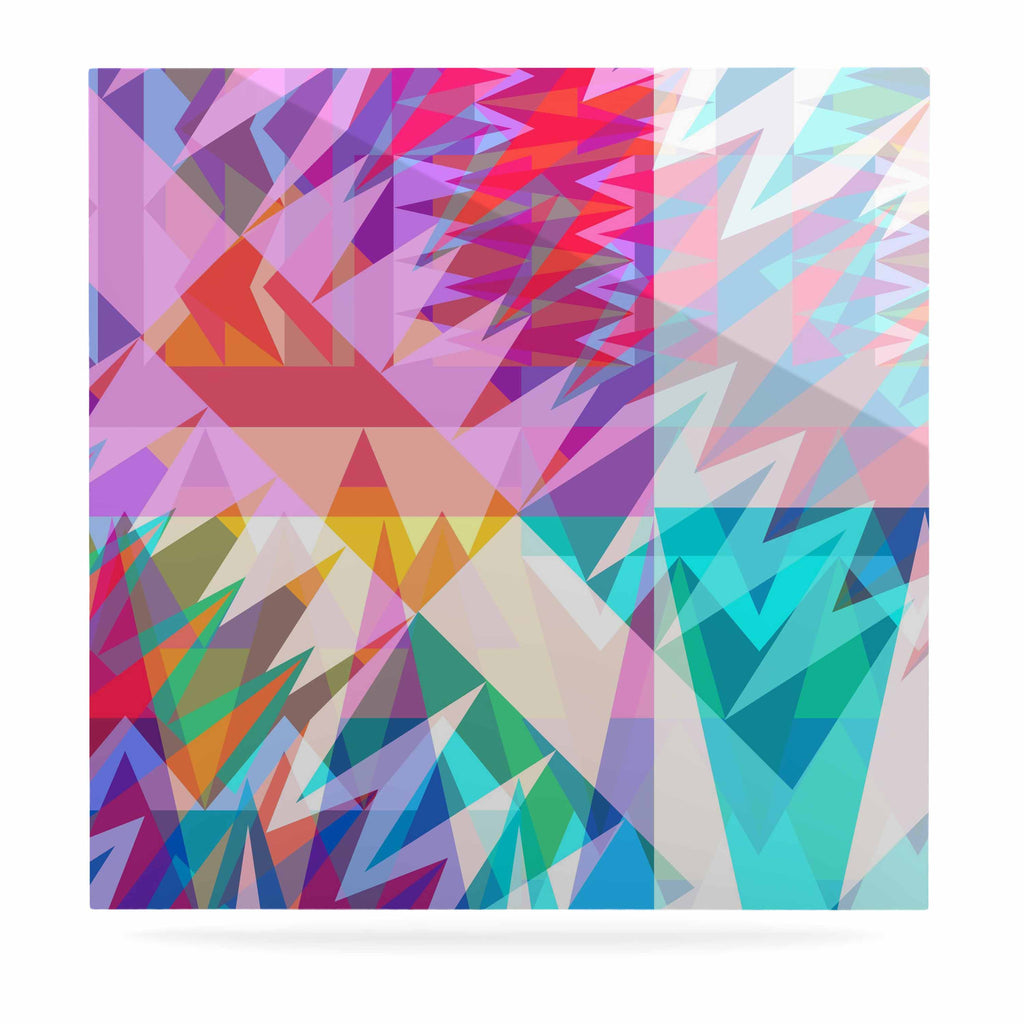 "Miranda Mol ""Triangle Feast"" Abstract Geometric Luxe Square Panel - KESS InHouse  - 1"