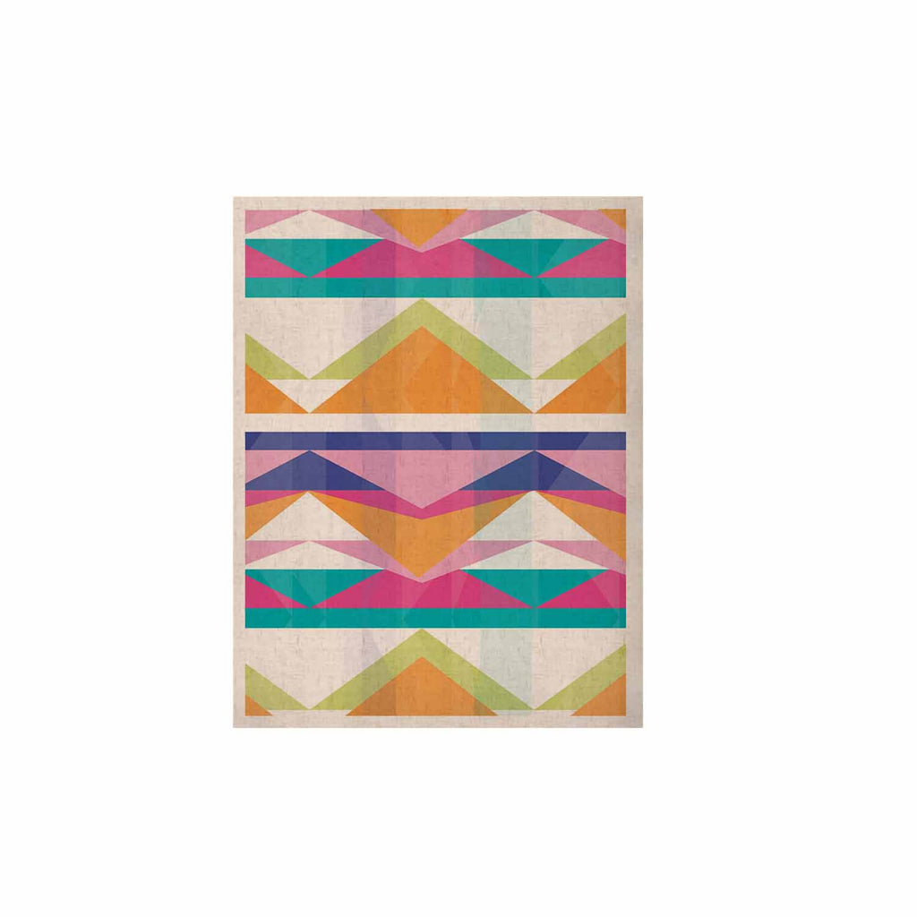 "Miranda Mol ""Triangle Waves"" Geometric Pattern KESS Naturals Canvas (Frame not Included) - KESS InHouse  - 1"