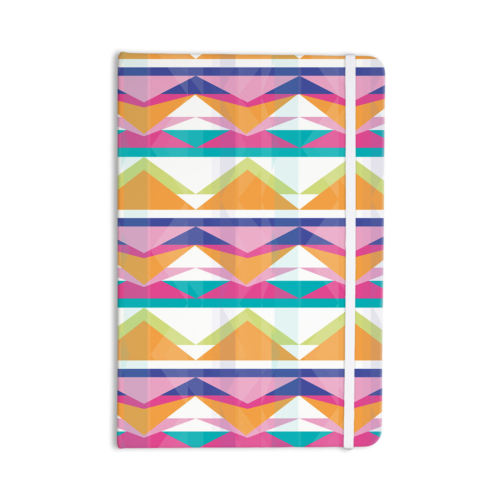 "Miranda Mol ""Triangle Waves"" Geometric Pattern Everything Notebook - KESS InHouse  - 1"