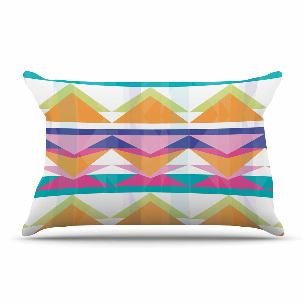 "Miranda Mol ""Triangle Waves"" Geometric Pattern Pillow Sham - KESS InHouse"