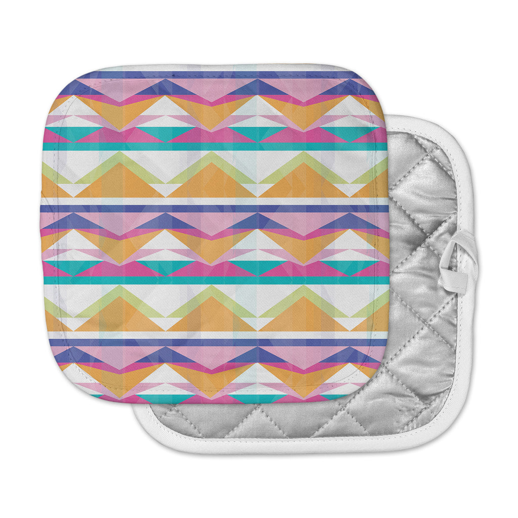 "Miranda Mol ""Triangle Waves"" Geometric Pattern Pot Holder"
