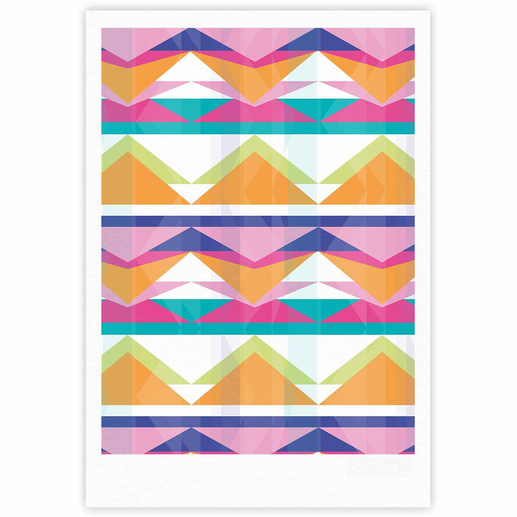 "Miranda Mol ""Triangle Waves"" Geometric Pattern Fine Art Gallery Print - KESS InHouse"