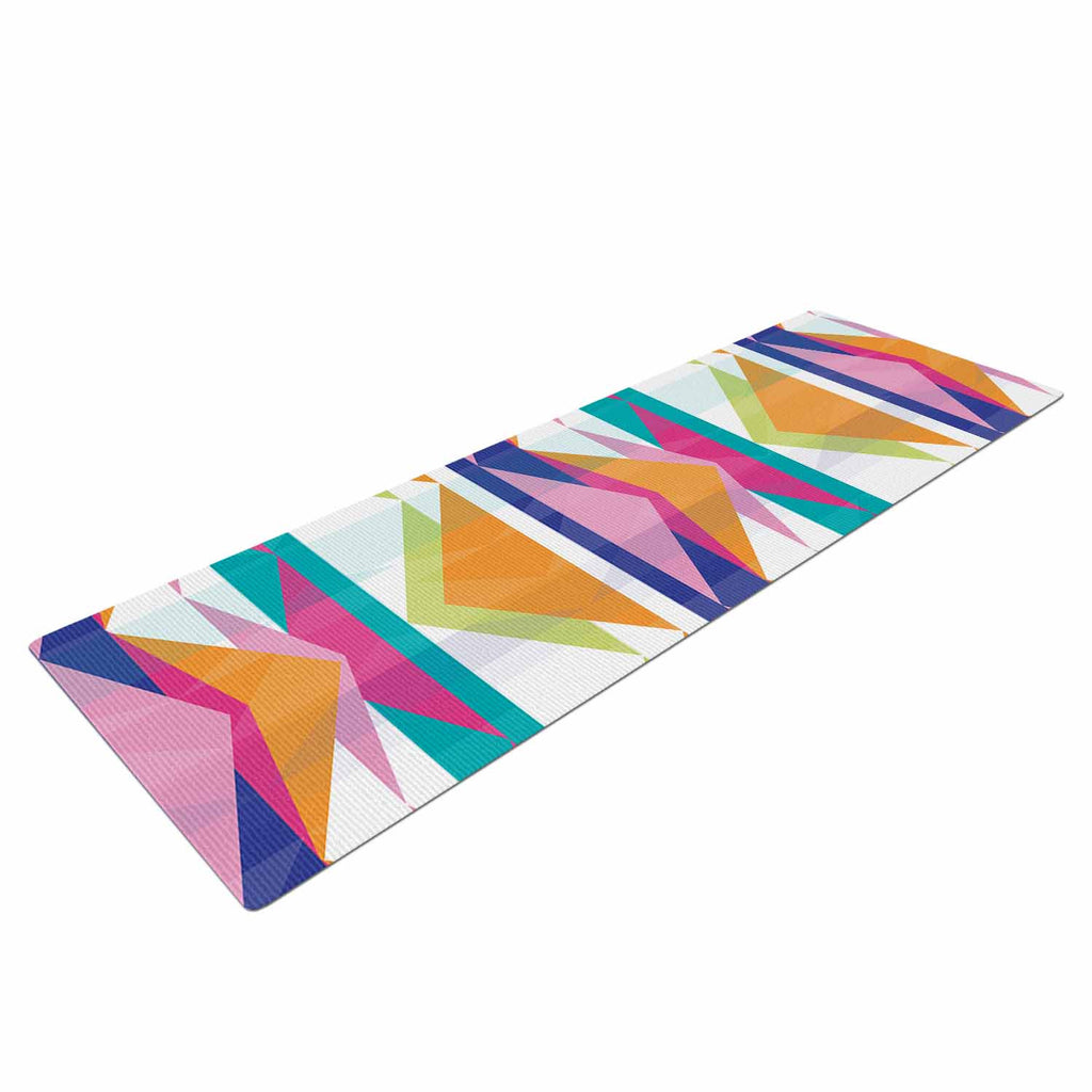 "Miranda Mol ""Triangle Waves"" Geometric Pattern Yoga Mat - KESS InHouse  - 1"