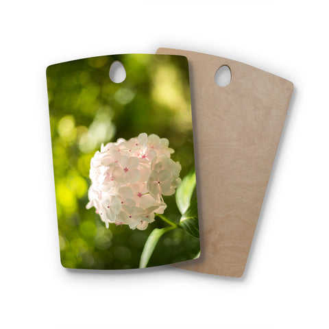 "MaryJo ""Blury Flower"" Green Yellow Floral Nature Digital Photography Rectangle Wooden Cutting Board"