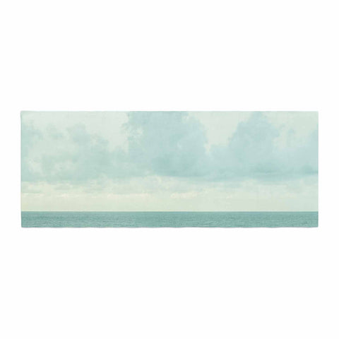 "MaryJo ""Grennish Soul"" Blue Gray Nature Travel Digital Photography Bed Runner"