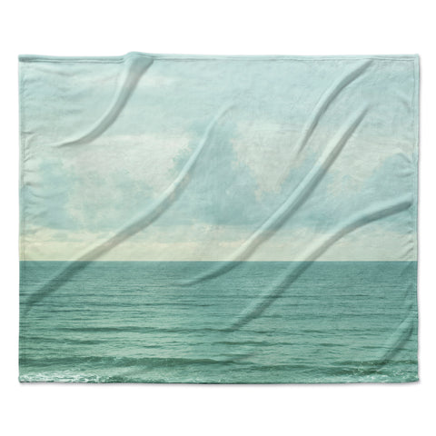 "MaryJo ""Grennish Soul"" Blue Gray Nature Travel Digital Photography Fleece Throw Blanket"