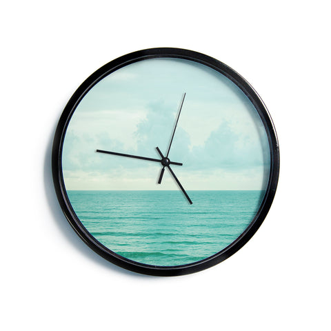 "MaryJo ""Grennish Soul"" Blue Gray Nature Travel Digital Photography Modern Wall Clock"