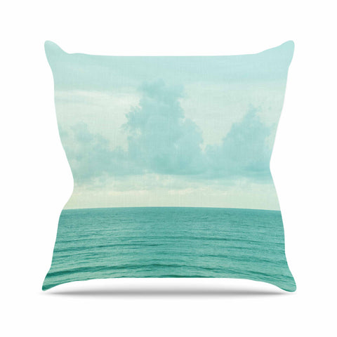 "MaryJo ""Grennish Soul"" Blue Gray Nature Travel Digital Photography Throw Pillow"