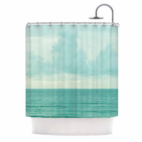"MaryJo ""Grennish Soul"" Blue Gray Nature Travel Digital Photography Shower Curtain"