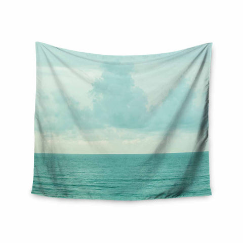 "MaryJo ""Grennish Soul"" Blue Gray Nature Travel Digital Photography Wall Tapestry"