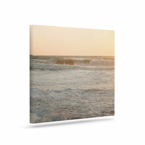 "MaryJo ""White Waves"" White Beige Holiday Nature Digital Photography Art Canvas"