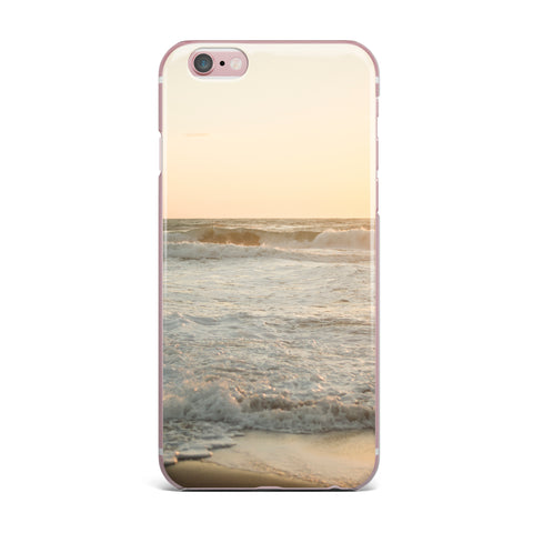 "MaryJo ""White Waves"" White Beige Holiday Nature Digital Photography iPhone Case"