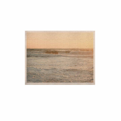"MaryJo ""White Waves"" White Beige Holiday Nature Digital Photography KESS Naturals Canvas (Frame not Included)"
