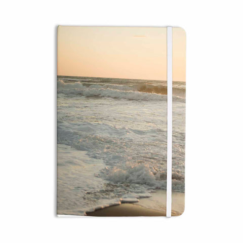 "MaryJo ""White Waves"" White Beige Holiday Nature Digital Photography Everything Notebook"