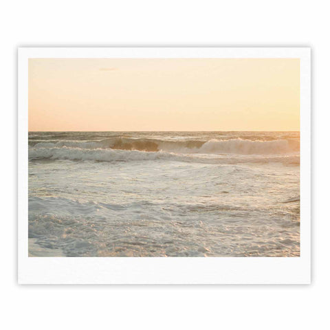 "MaryJo ""White Waves"" White Beige Holiday Nature Digital Photography Fine Art Gallery Print"