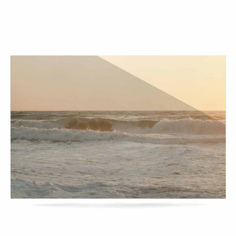 "MaryJo ""White Waves"" White Beige Holiday Nature Digital Photography Luxe Rectangle Panel"