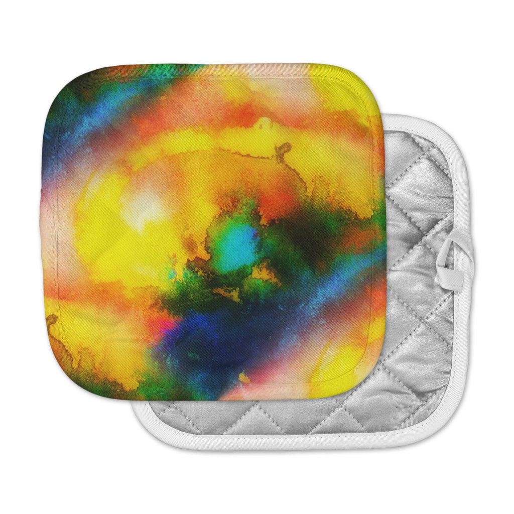 "No ""Good Vibrations"" Abstract Multicolor Pot Holder"