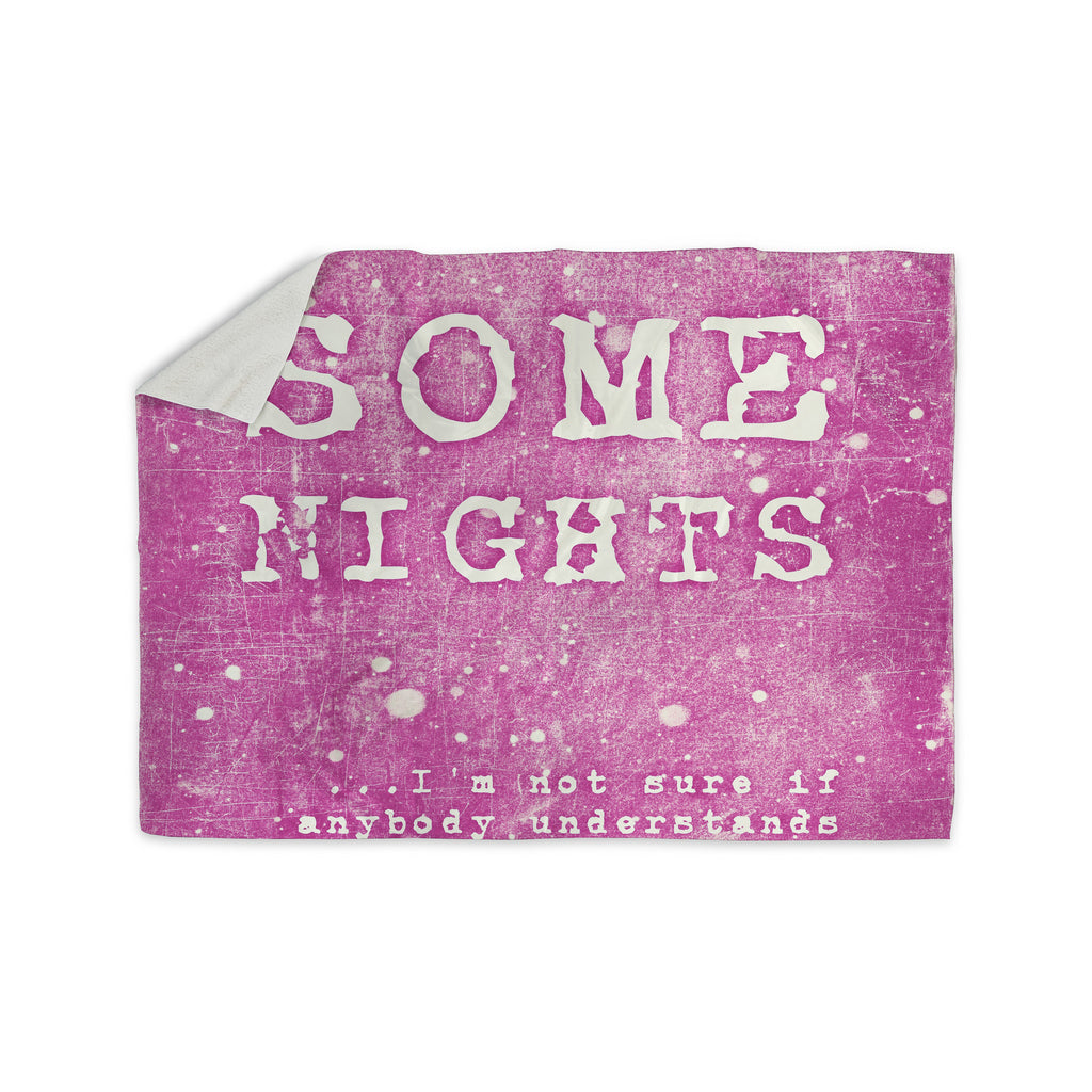 "Monika Strigel ""Some Nights"" Sherpa Blanket - KESS InHouse  - 1"