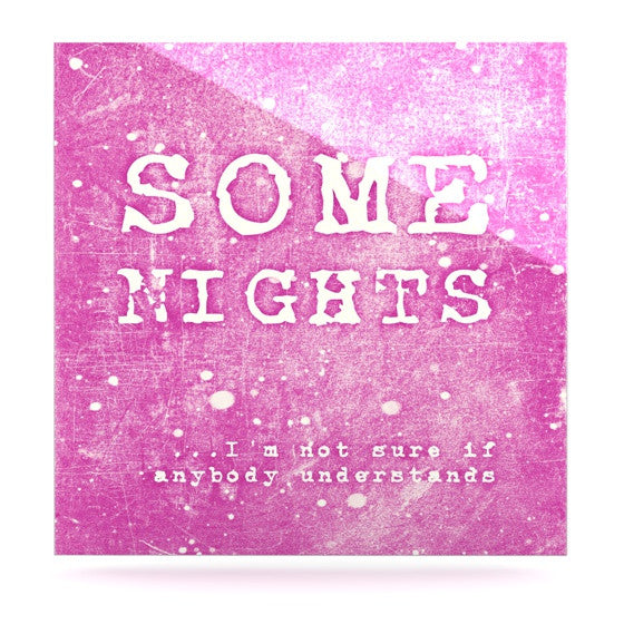 "Monika Strigel ""Some Nights"" Luxe Square Metal Art - KESS InHouse  - 1"