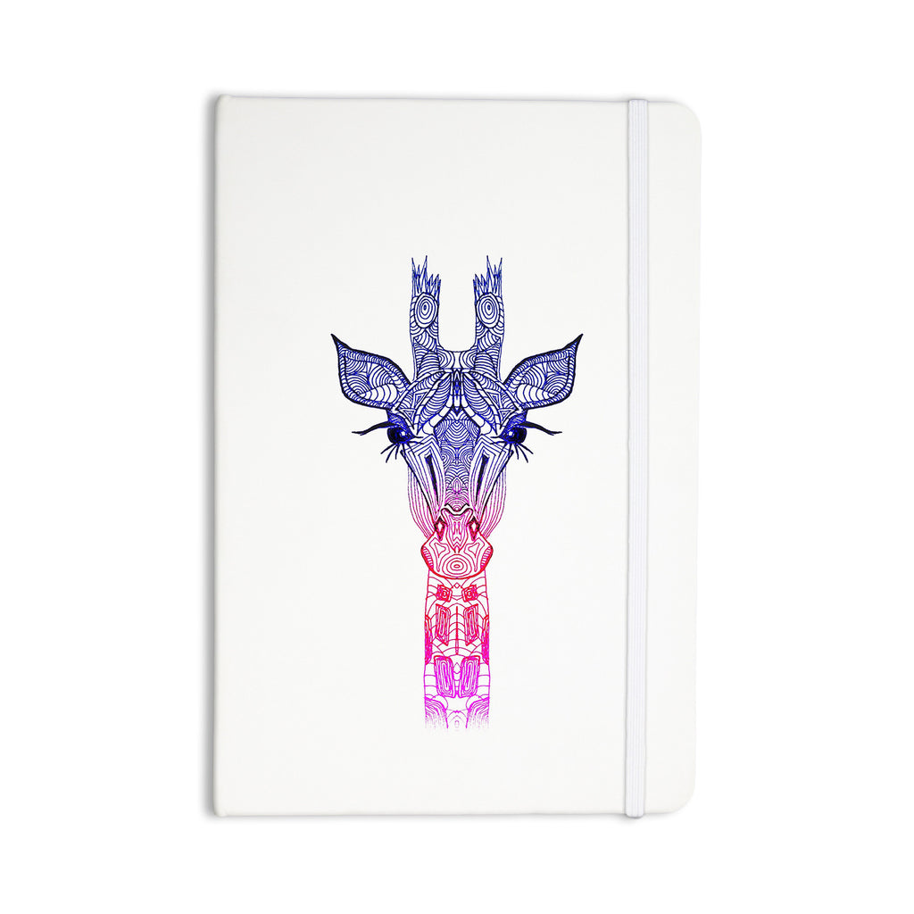 "Monika Strigel ""Rainbow Giraffe"" Everything Notebook - KESS InHouse  - 1"