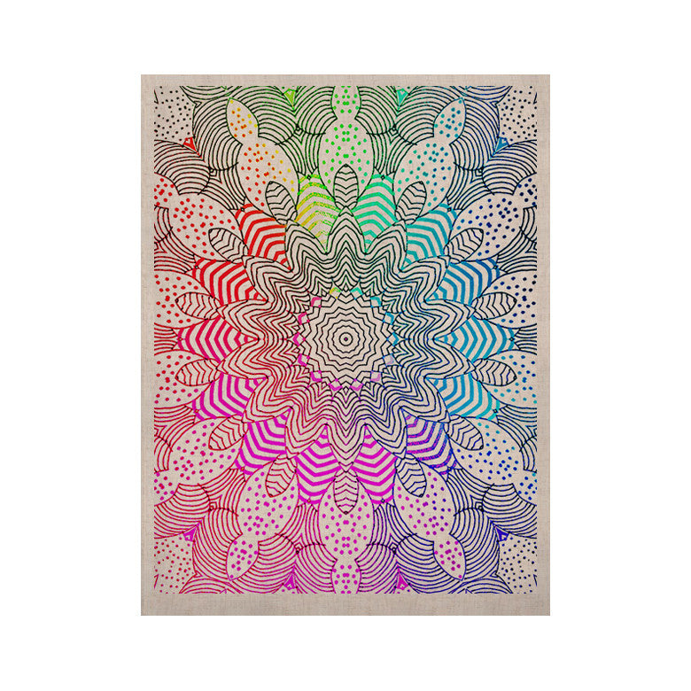 "Monika Strigel ""Rainbow Dots"" KESS Naturals Canvas (Frame not Included) - KESS InHouse  - 1"
