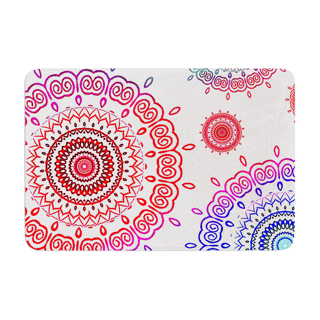 "Monika Strigel ""Rainbow Infinity"" Memory Foam Bath Mat - KESS InHouse"
