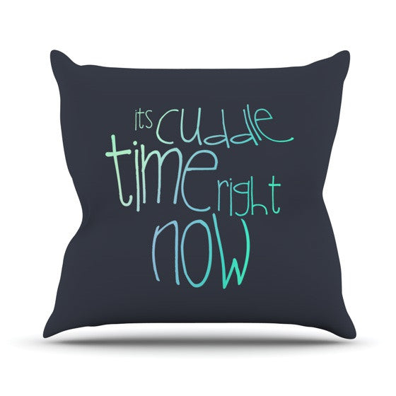 "Monika Strigel ""Cuddle Time Mint"" Throw Pillow - KESS InHouse  - 1"