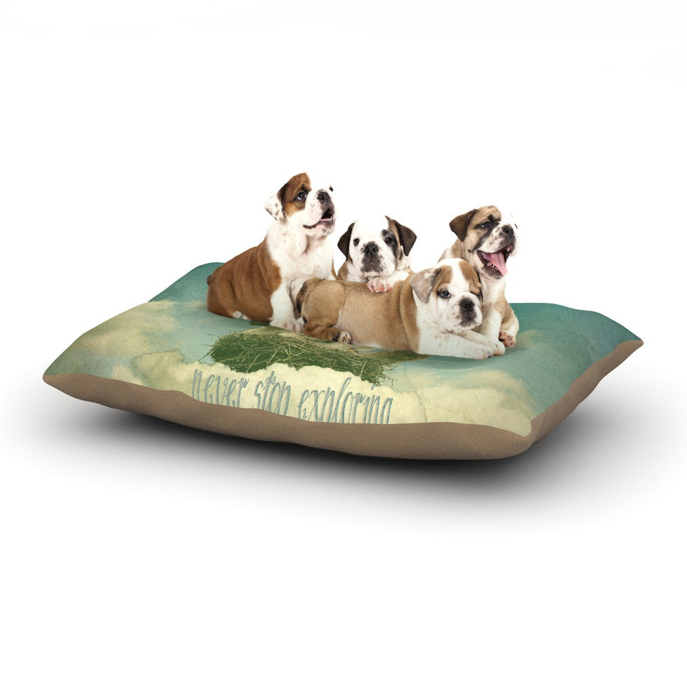 "Monika Strigel ""Never Stop Exploring"" Dog Bed - KESS InHouse  - 1"