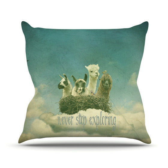 "Monika Strigel ""Never Stop Exploring"" Throw Pillow - KESS InHouse  - 1"