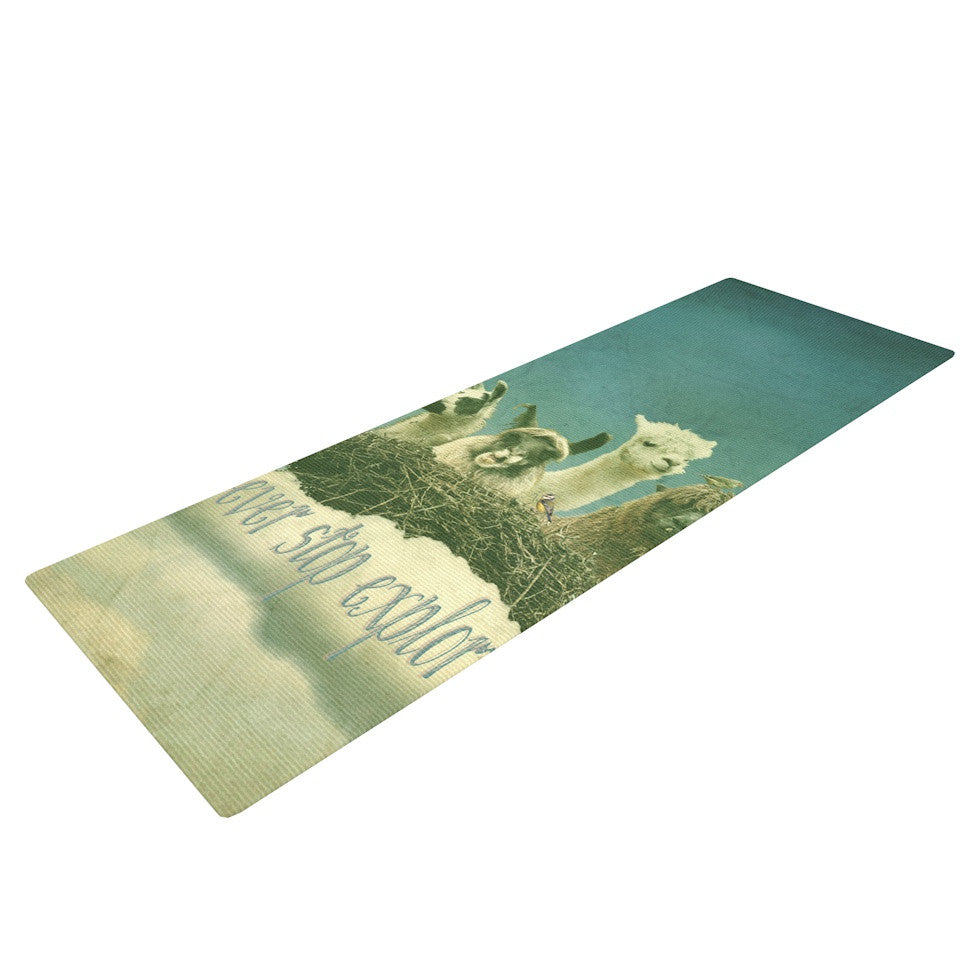 "Monika Strigel ""Never Stop Exploring"" Yoga Mat - KESS InHouse  - 1"