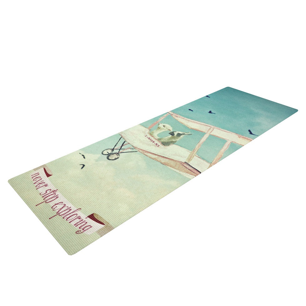 "Monika Strigel ""Never Stop Exploring II"" Yoga Mat - KESS InHouse  - 1"