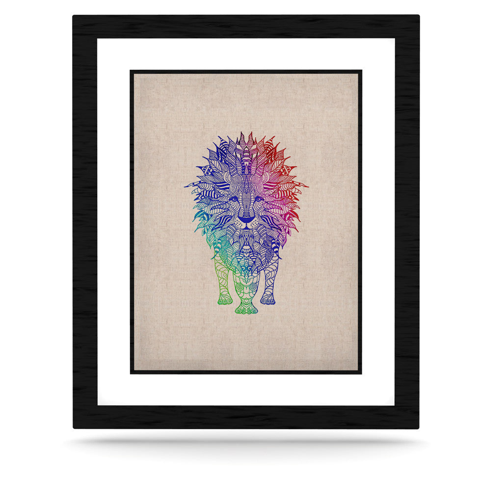 "Monika Strigel ""Rainbow Lion"" KESS Naturals Canvas (Frame not Included) - KESS InHouse  - 1"
