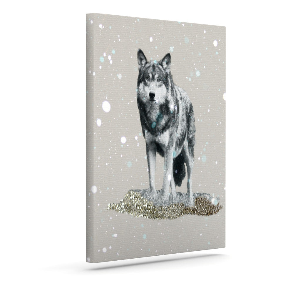 "Monika Strigel ""Wolf"" Outdoor Canvas Wall Art - KESS InHouse  - 1"