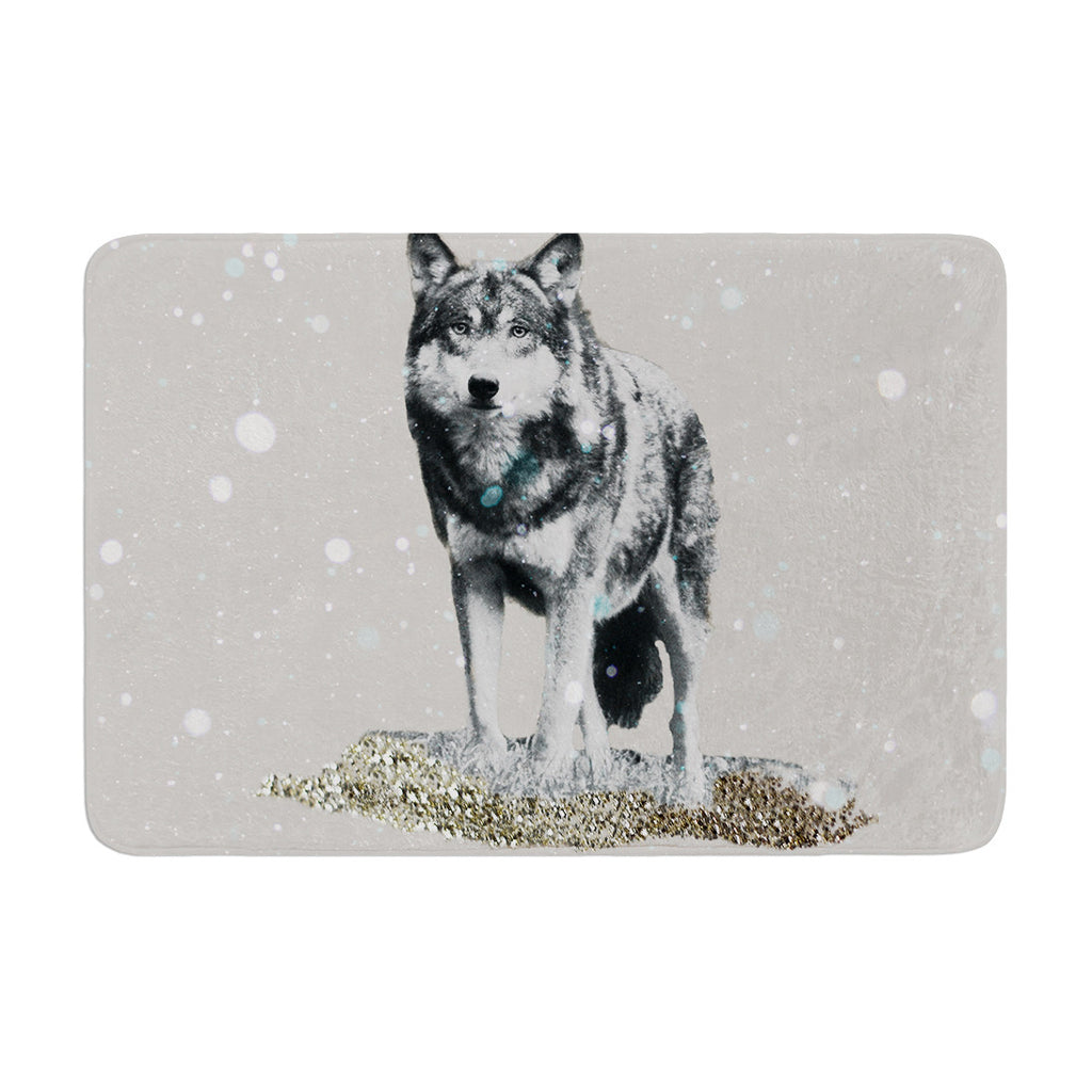 "Monika Strigel ""Wolf"" Memory Foam Bath Mat - KESS InHouse"