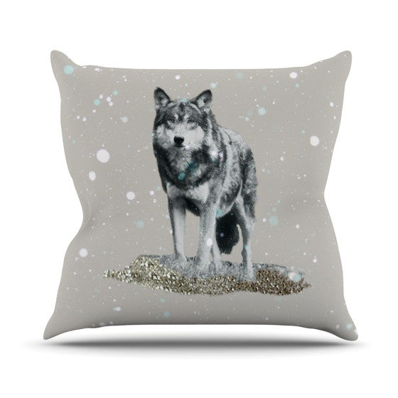 "Monika Strigel ""Wolf"" Throw Pillow - KESS InHouse  - 1"