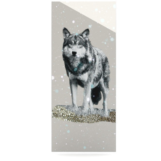 "Monika Strigel ""Wolf"" Luxe Rectangle Metal Art - KESS InHouse  - 1"
