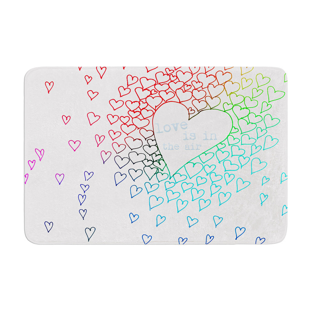 "Monika Strigel ""Rainbow Hearts"" Memory Foam Bath Mat - KESS InHouse"
